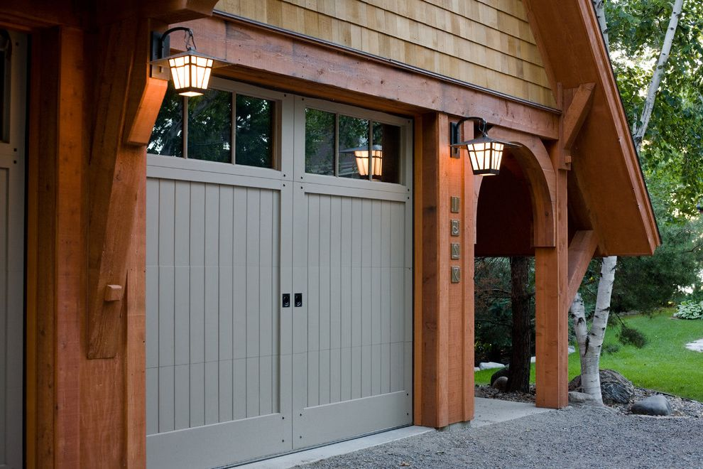 Cedar Park Garage Doors with Craftsman Garage Also Arched Doorway Blue Wood Door Craftsman Garage Door Outdoor Lamp Shingle