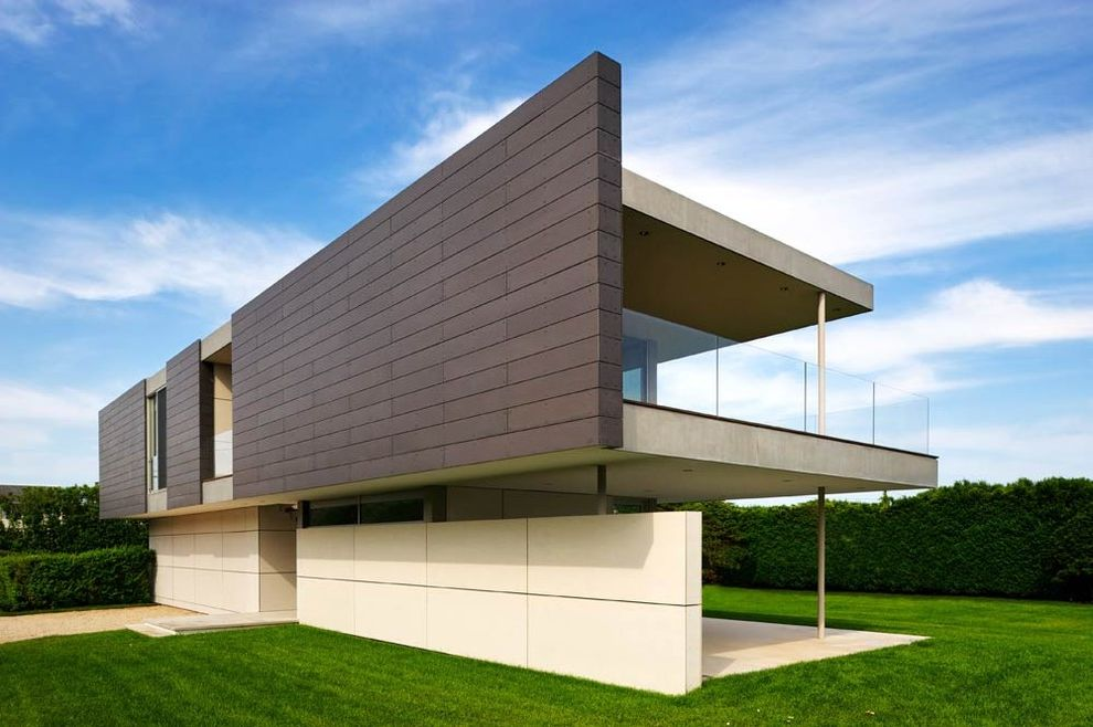 Cement Fiberboard Siding with Modern Spaces Also Modern