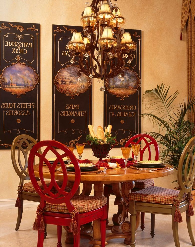 Chair Pads for Kitchen Chairs with Eclectic Dining Room Also Art Breakfast Nook Breakfast Room Chandelier Color Red Red Chiar Rond Table Wood Table
