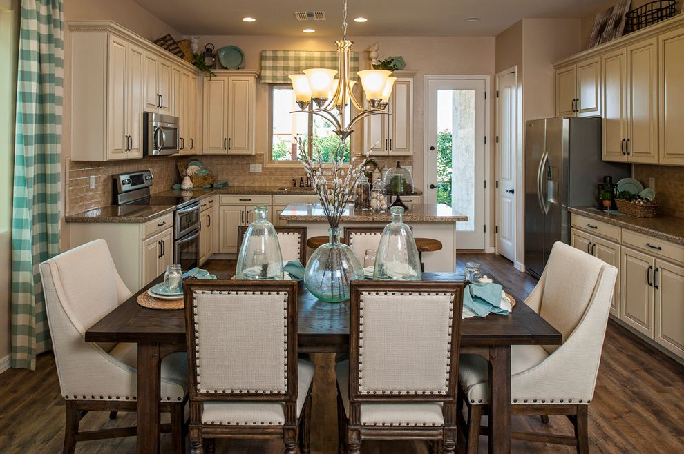 Chair Pads for Kitchen Chairs with Traditional Kitchen  and Backsplash Checked Fabric Cornice Counter Stools Granite Kitchen Island Raised Panel W Nail Head Detail Upholstered Dining Chairs
