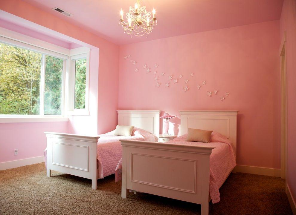 Chandelier for Girl Bedroom Transitional Kids and Baseboards Bedroom ...