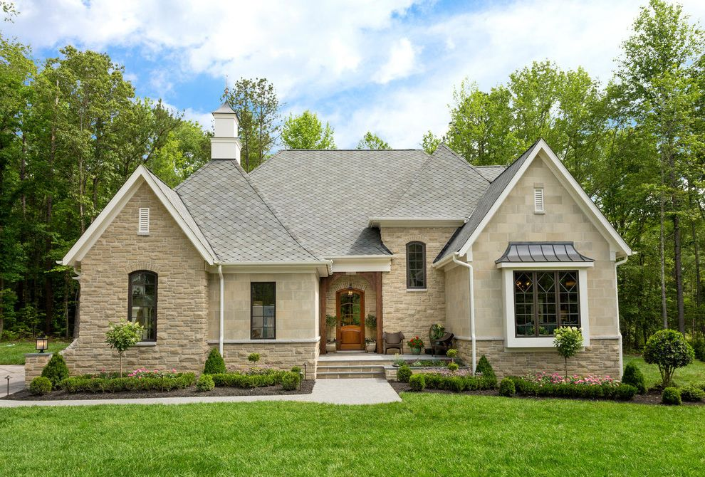 Chavez Roofing with Transitional Exterior  and Bel Arbor Builders Custom Masonry European European Romantic French French Country Inc Old Hollywood Glamour Shingles