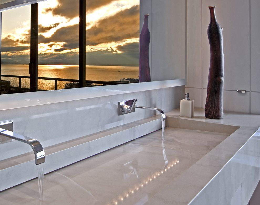 Cheap Faucets for Bathroom with Contemporary Bathroom  and Integrated Trough Sink Los Angeles Architects Los Angeles Interior Designers Modern Seattle Architects Seattle Interior Designers Vancouver Architects Vancouver Interior Designers View