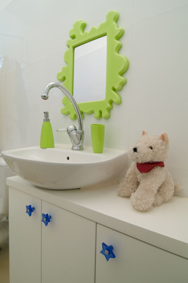 Cheap Faucets for Bathroom with Eclectic Bathroom Also Bathroom Blue Built in Drawer Pulls Green Neon Star Stuffed Animal Vessel Sink Wall Mirror