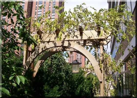 Chelsea Garden Center    Spaces Also Arch Covered Arch Green Covered Arch New York City Penthouse New York City Skyline Penthouse Penthouse Garden Penthouse with a View