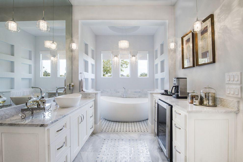 Chem Dry San Antonio   Transitional Bathroom Also Custom Home Fridge Niche Pendant Lighting Windows