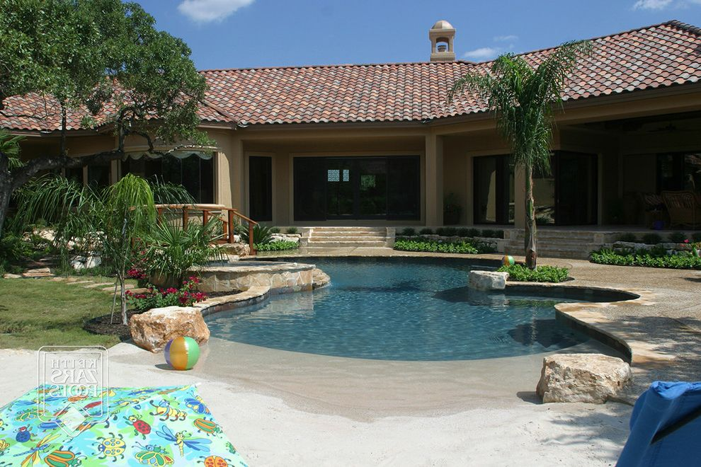 Chem Dry San Antonio with Beach Style Pool  and Beach Entry Pools Beach Style Pools Custom Pools Pools San Antonio San Antonio Custom Pools San Antonio Pool Builder Shallow Pools Walk in Pools