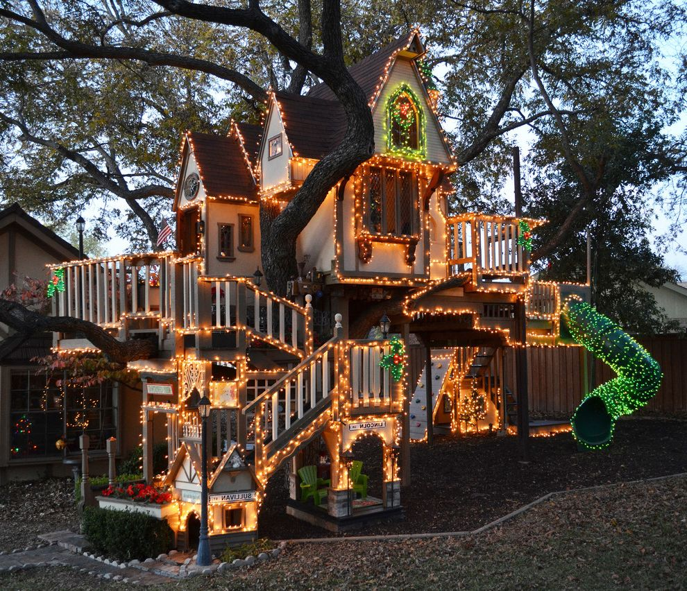 A Magical Tree House Lights Up For Christmas $style In $location