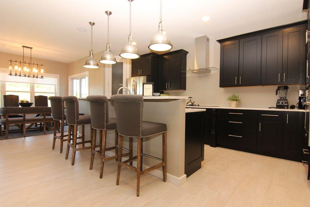 Classic White Quartzite   Contemporary Kitchen Also Contemporary