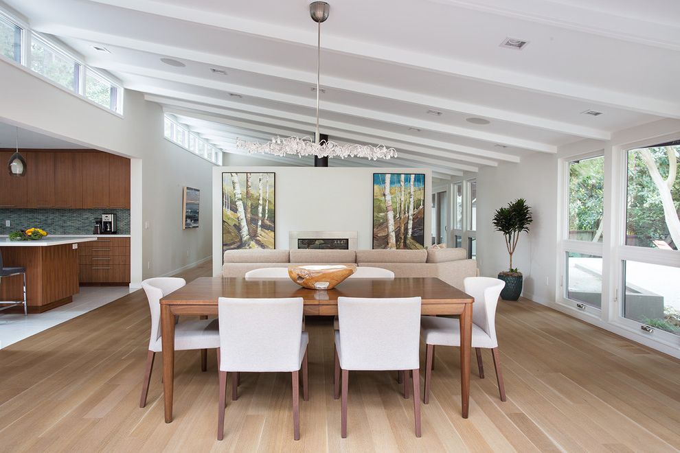 Clayton Homes Lafayette   Contemporary Dining Room  and Dining Room Ideas General Contractor Home Improvement Home Remodel Kasten Builders Marin County Open Space Statement Lighting White Window Trim Wood Floors