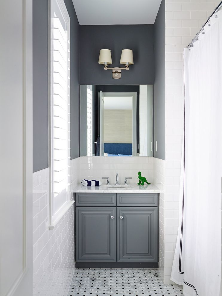 Coast to Coast Movers with Traditional Bathroom Also Nook Plantation Shutter Shower Curtain Wall Mirror Wall Sconce