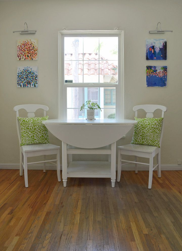 Colleen's Consignment Las Vegas   Eclectic Dining Room Also Art Bungalow Chairs Dining Floor Green Greenman Hardwood Kitchen Pillow Salon Sarah Selah Table Throw Walls White Window