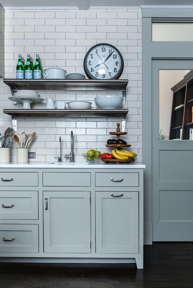 Color Palette Maker   Contemporary Kitchen  and Fruit Tray Kitchen Clock Metal Shelves Utensil Crock Wall Shelves