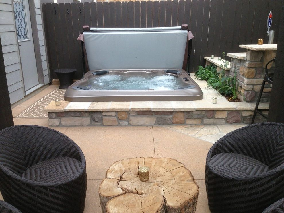 Colorado Custom Spas with Traditional Spaces  and Hot Tub in Ground Hot Tub in Ground Spa Inground Hot Tub Inground Spa Jacuzzi