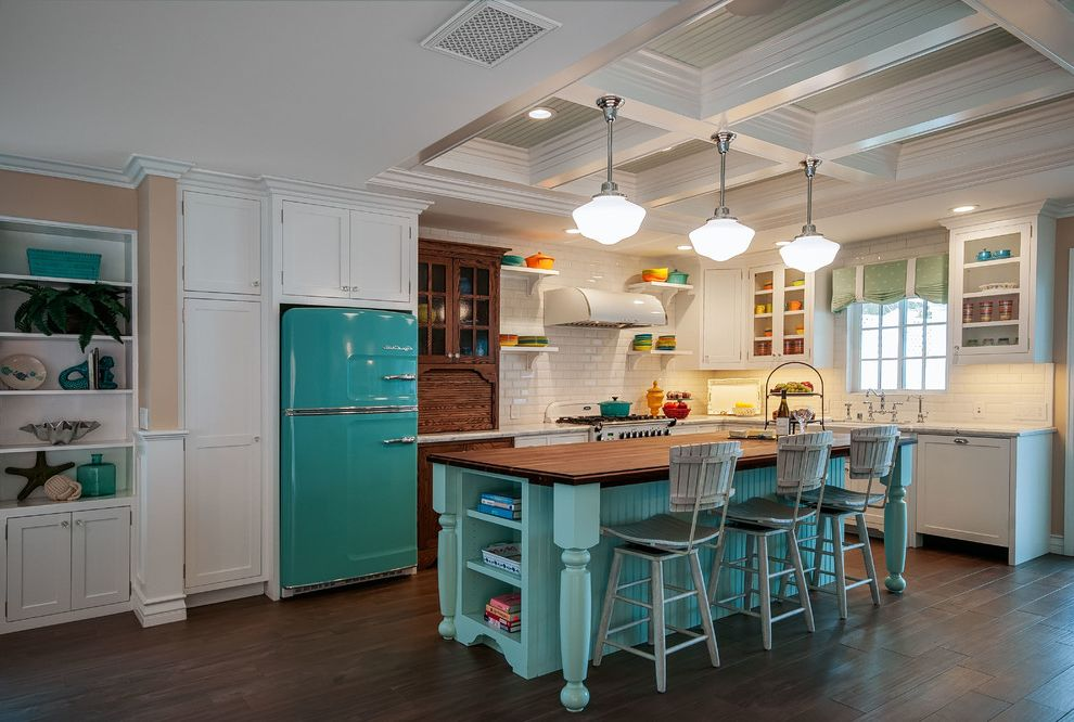 Coloured Fridges   Beach Style Kitchen  and Beach Style