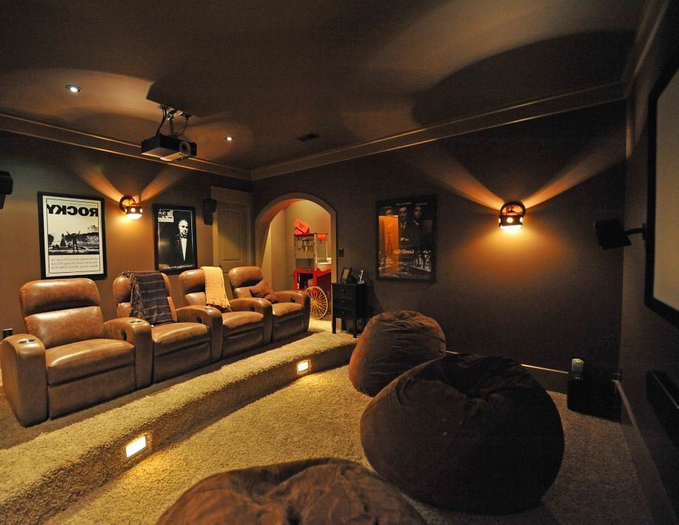 Columbia Sc Theaters with Rustic Home Theater  and Rustic