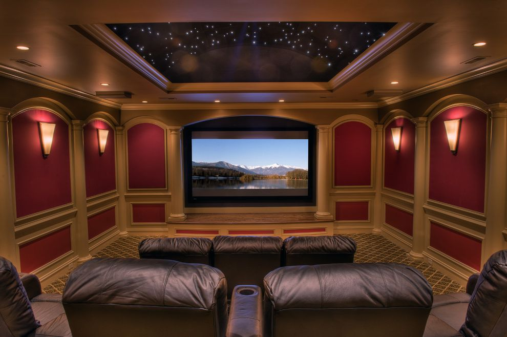 Columbia Sc Theaters with Traditional Home Theater Also Home Theater Wall Sconce Lighted Tray Ceiling Starlight Theater Starlight Tray Ceiling Starry Night Ceiling Theater Sky Ceiling Theater Star Ceiling Theater Wall Sconces Tray Ceiling Theater