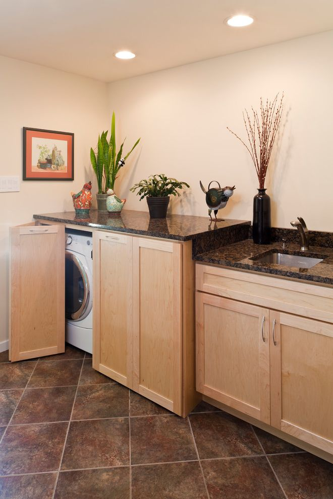 Commercial Grade Washing Machine with Contemporary Laundry Room Also Hide Away Washer and Dryer Laundry Mud Room