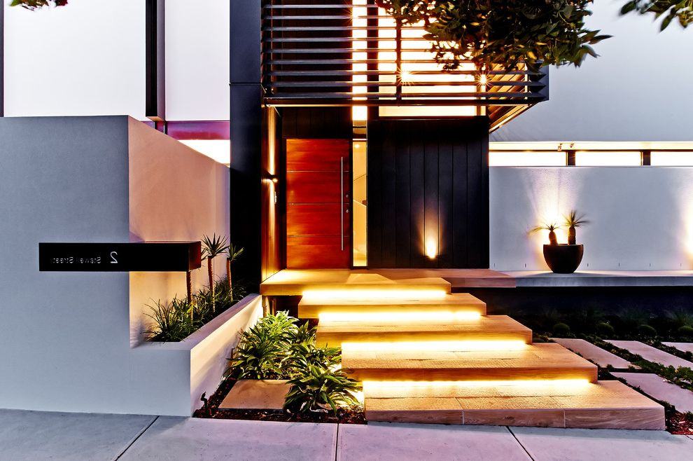 Compliant Meaning with Contemporary Entry Also Minimalist Architecture Modern Modern Architecture Outdoor Lighting Stairway Cove Lighting