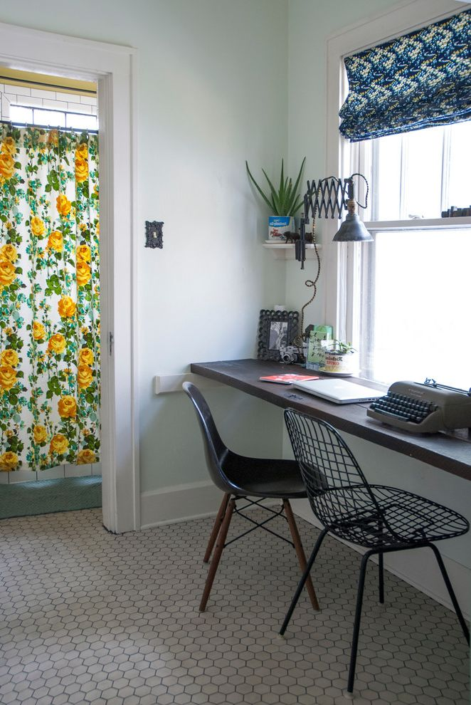 Construction Companies Columbus Ohio   Shabby Chic Style Home Office Also Black Chair Bungalow Desk Eames Chair Eclectic Floral Shower Curtain Hexagonal Tile Industrial Molded Chair Office Reclaimed Wood Vintage Vintage Typewriter Wire Chair