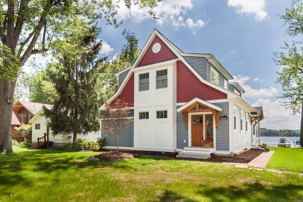 Contractor License Ma   Traditional Exterior  and Beige Exterior Beige Siding Front Stoop Grass Gray Exterior Gray Shingle Exterior Gray Shingle Siding Gray Siding Lawn Red Exterior Red Siding Stone Slab Stairs Stone Stairs Wood Door Wood Front Door