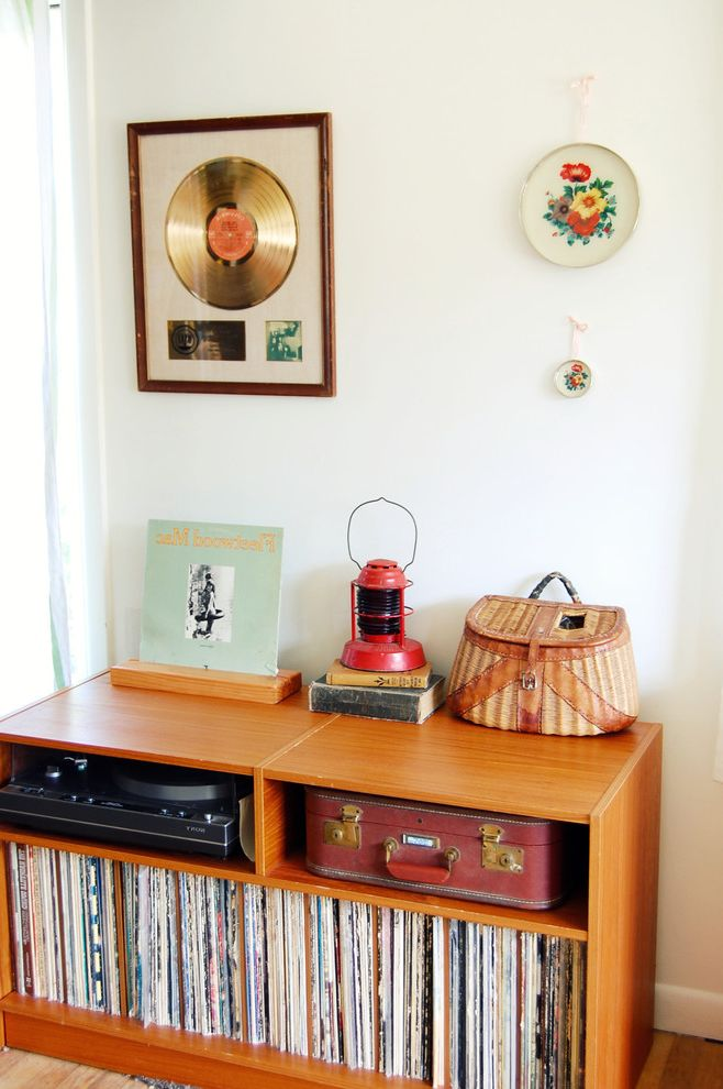 Cool Record Players   Midcentury Living Room Also Collection Media Storage Record Player Records Tablescape Vintage Suitcase Wall Art Wall Decor Wicker Basket