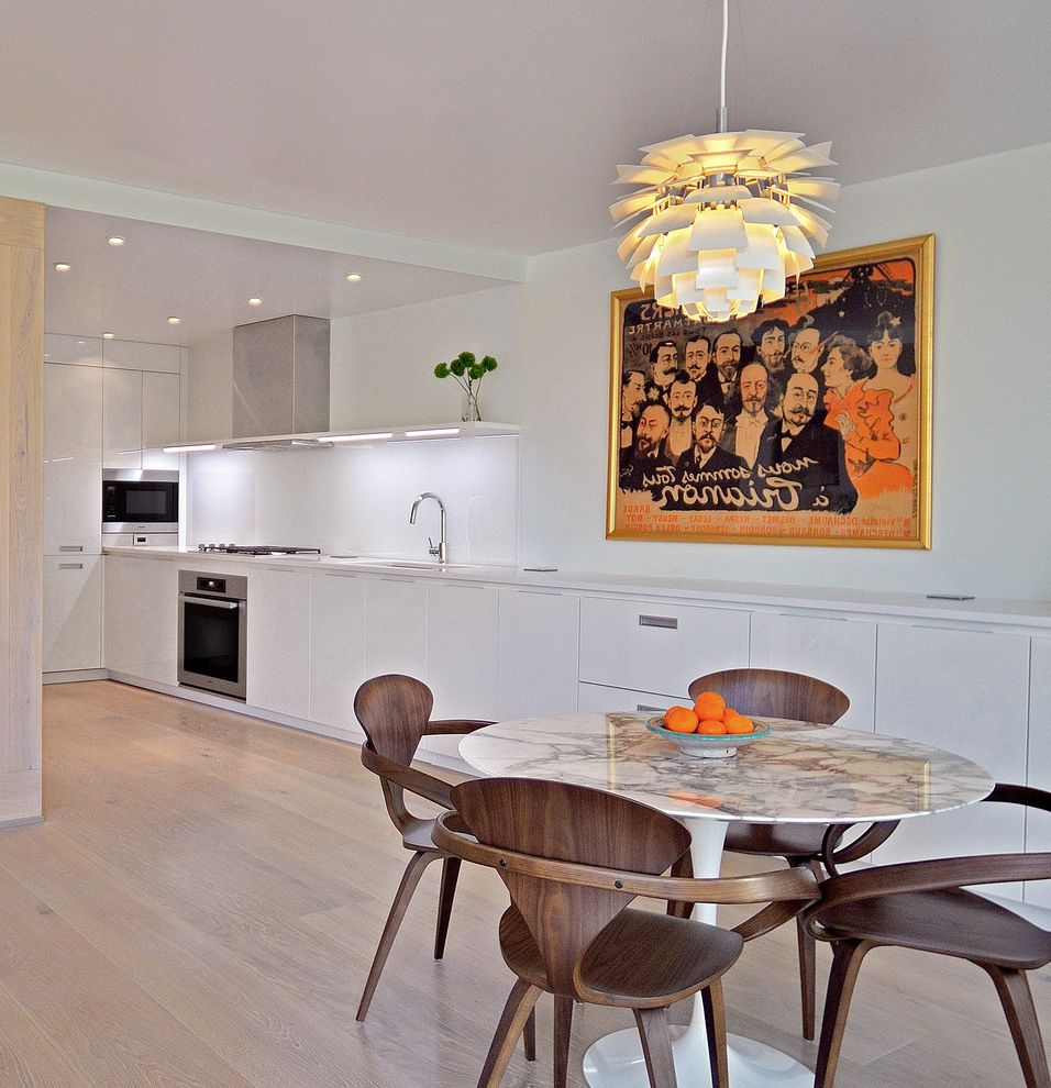 Copenhagen Furniture Scottsdale with Modern Dining Room Also Artichoke Pendant Light Dining Table Glossy Lacquer Handleless Italian Kitchen Kitchen Renovation Liebherr Light Wood Floor Modern Kitchen Pedini Pedini Dc Wall Art White Kitchen Wood Chairs