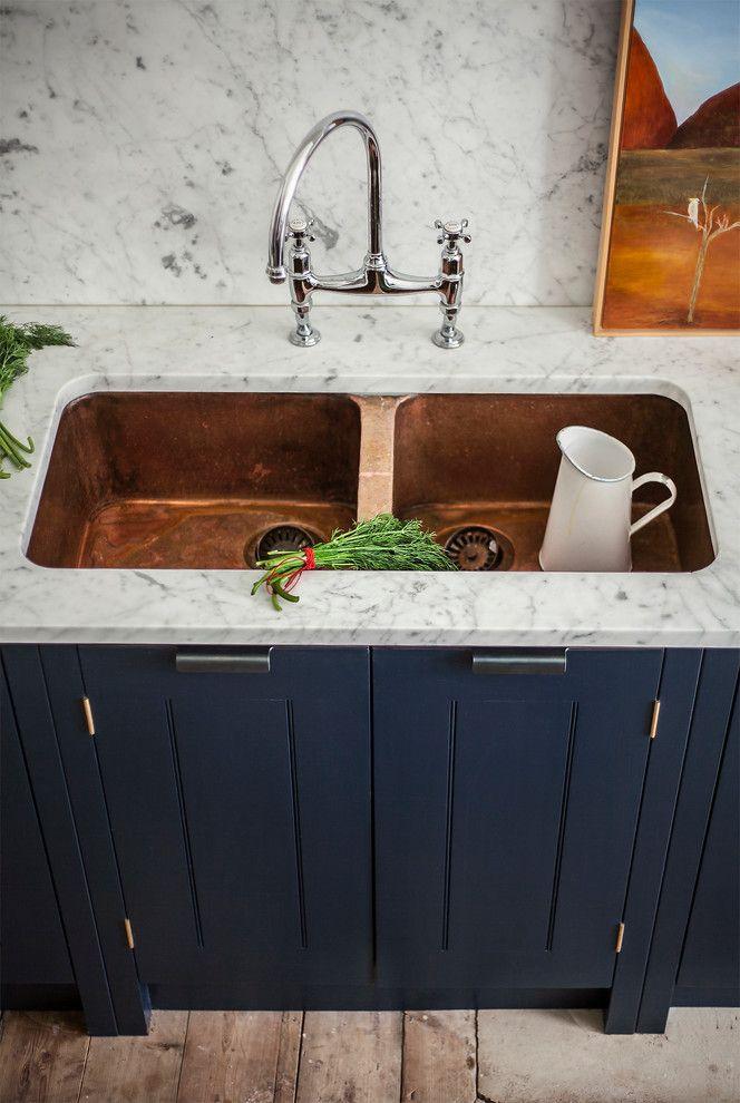 Copper Sink Reviews   Eclectic Kitchen Also Copper Copper Sink Kitchen Kitchen Cabinets Kitchen Cupboards Kitchen Islands Marble Worktop Marble Worktops