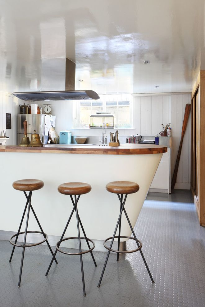 Cortex Plus Flooring   Eclectic Kitchen Also Bespoke Bright Danish Modern Bar Stool Renovation Retrofit Tile Floor Vent Window