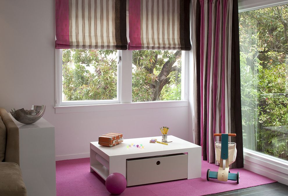 Costco Drapes with Contemporary Kids Also Art Table Child Craft Table Kids Modern Coffee Table Neopolitan Nursery Pink Pink and Brown Playroom Roman Shades Square Striped Curtains Toy Toys Treehouse White Coffee Table
