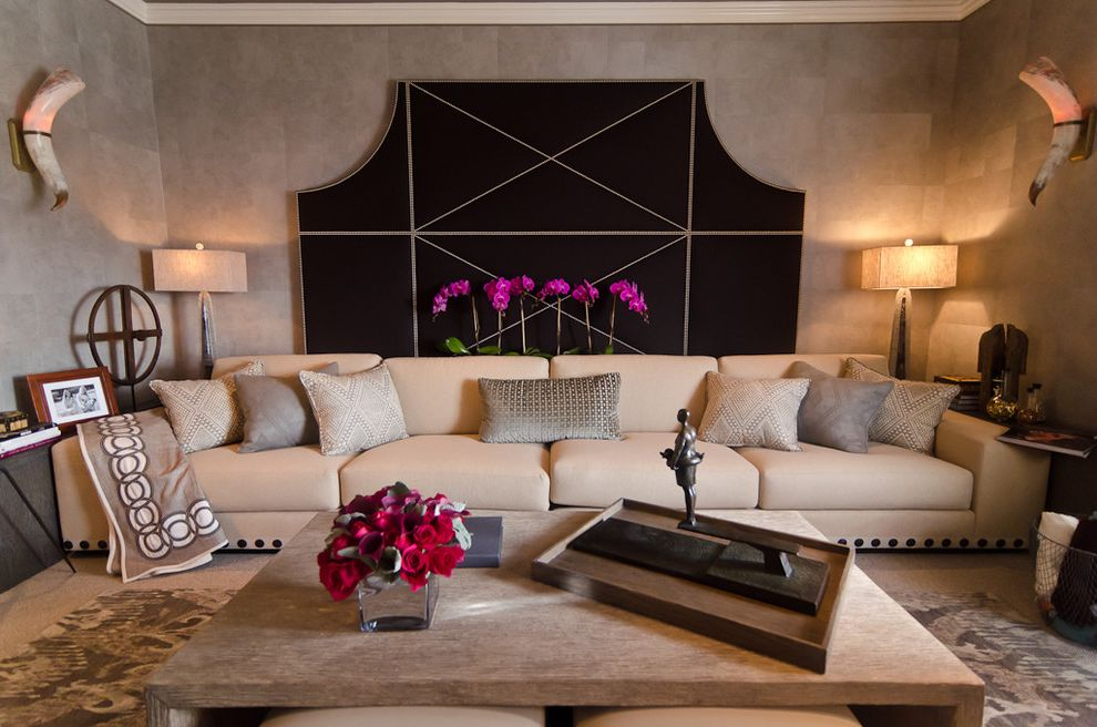 Couch with Studs with Contemporary Home Theater  and Contemporary