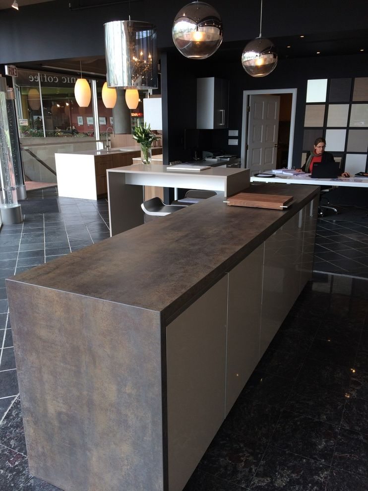 Countertops Okc with Industrial Kitchen Also Iron Moss Neolith