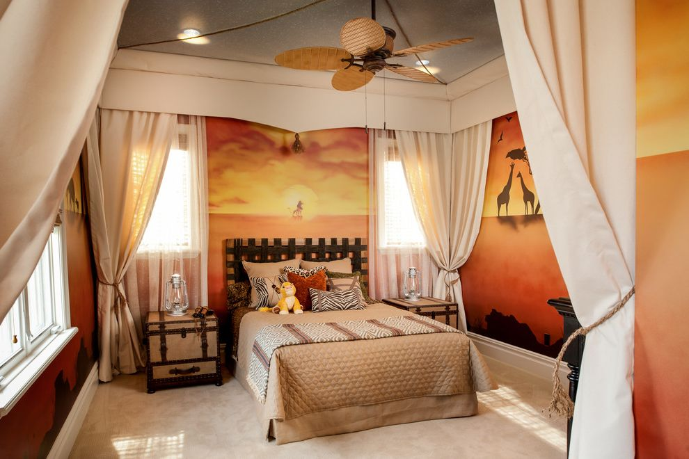 Coverlet Sets King with Traditional Kids Also African Landscape Mural Beige Curtains Disney Theme Lion King Theme Safari Theme Tropical Fan Wall Mural