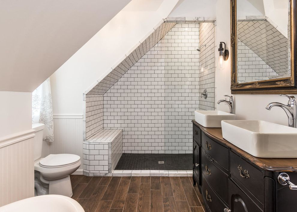 Craigs Mn with Industrial Bathroom Also 3x6 Subway Tile Classic Clawfoot Tubs Dresser Vanity Furniture Vanity Gable Hex Tile Subway Tile White Bathroom