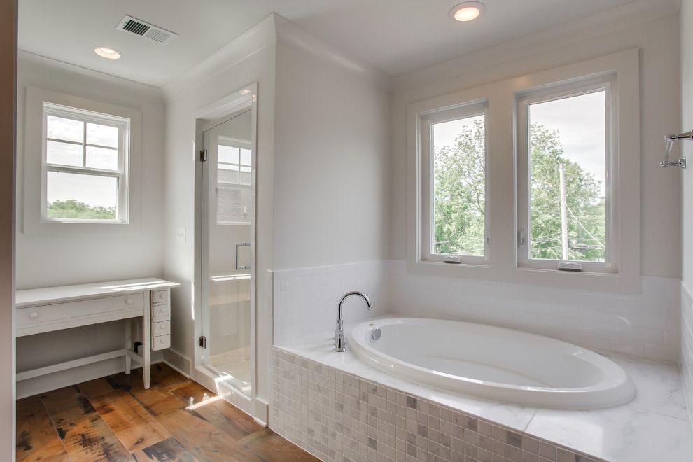 Craigslist Bathtubs   Farmhouse Bathroom Also Porcelain Wood Look Tile Wire Frame Pendant
