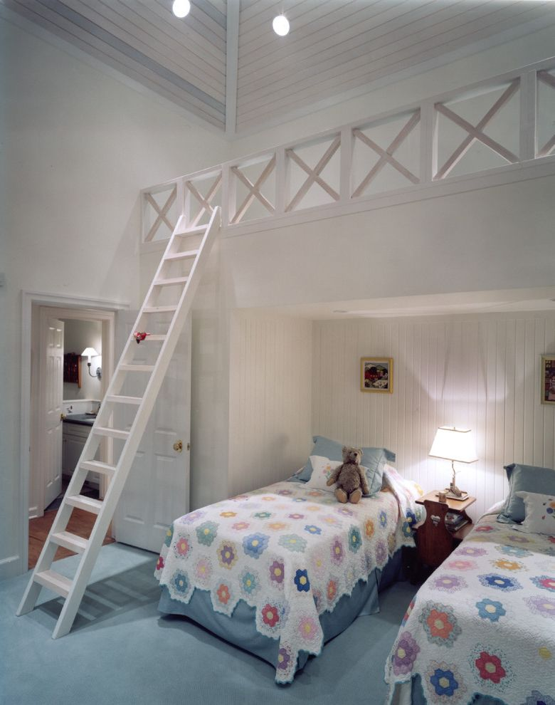 Cramers Kids   Traditional Kids  and Bedroom Loft Kids Bedroom Loft Painted Trim