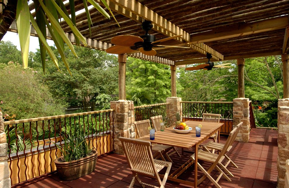 Crestwood Theaters   Tropical Porch Also 2 Story Addition 2 Story Cabana Addition Cabana Covered Cabana Granite Houston Bath Houston Builder Houston Remodeling Contractor Marble Outdoor Dining Outdoor Entertaining Room Addition Stone Tile