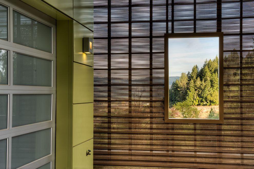 Crippen Sheet Metal   Modern Exterior Also Exterior Light Glass Garage Door Metal Clad New Home Metal Mesh
