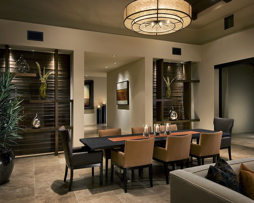 Croscill Galleria Brown with Contemporary Dining Room Also Art Chandelier Dark Wood Dining Hall Leather Marble Recessed Lighting Tile Tray Ceiling