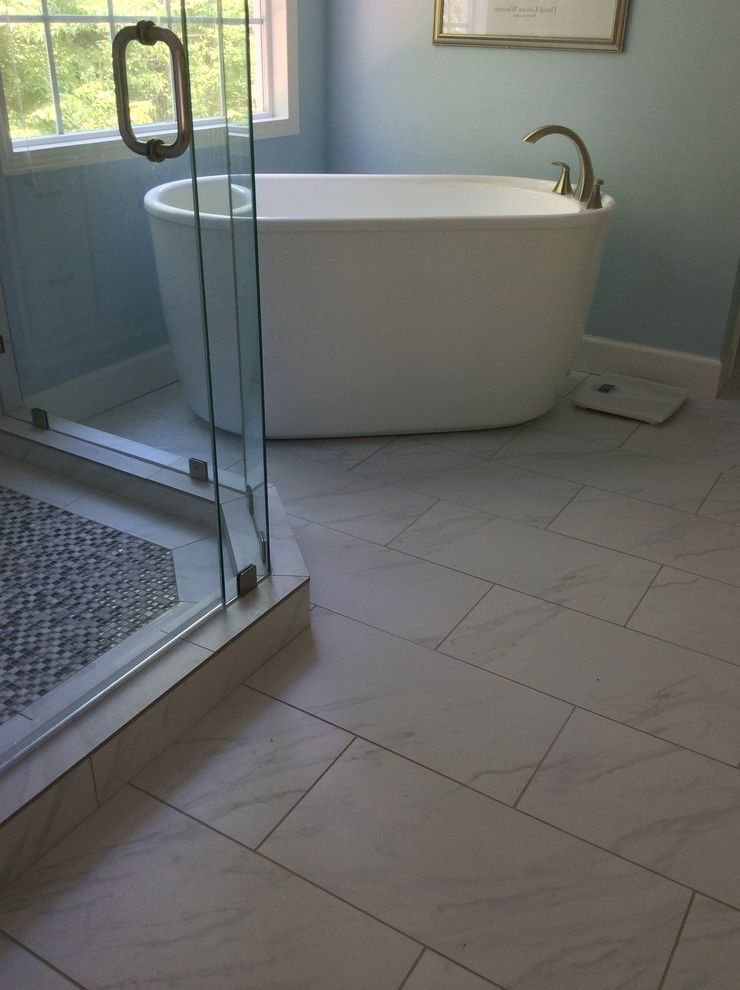 Daltile Florentine with Contemporary Bathroom Also Dal Tile Florentine Moen Voss Soaker Tub