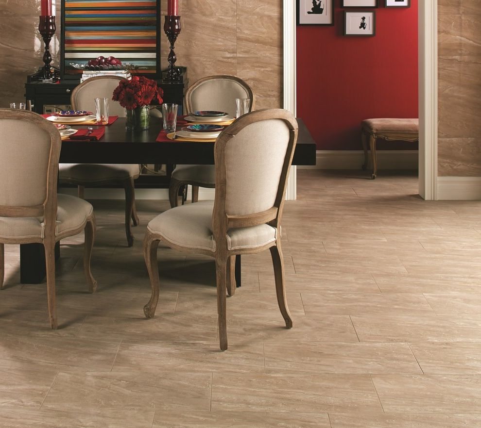 Daltile Florentine with Contemporary Dining Room Also Honed Stone Look Polished Stone Look Stone Look