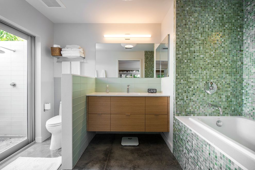 Daltile southlake with midcentury bathroom also artist for Sliding glass doors venice fl