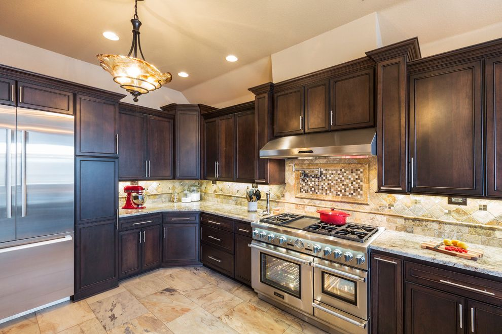 Daltile Southlake with Traditional Kitchen Also Curb Appeal Renovations Granite Countertops Kitchen Remodel Lighting Thermador Appliances Tile Kitchen Backsplash