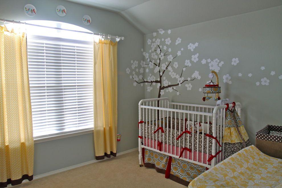 Davinci Highland Crib with Contemporary Nursery  and Crib Crib Bedding Curtains Drapes Mobile Nursery Wall Decor Wall Mural Window Treatments