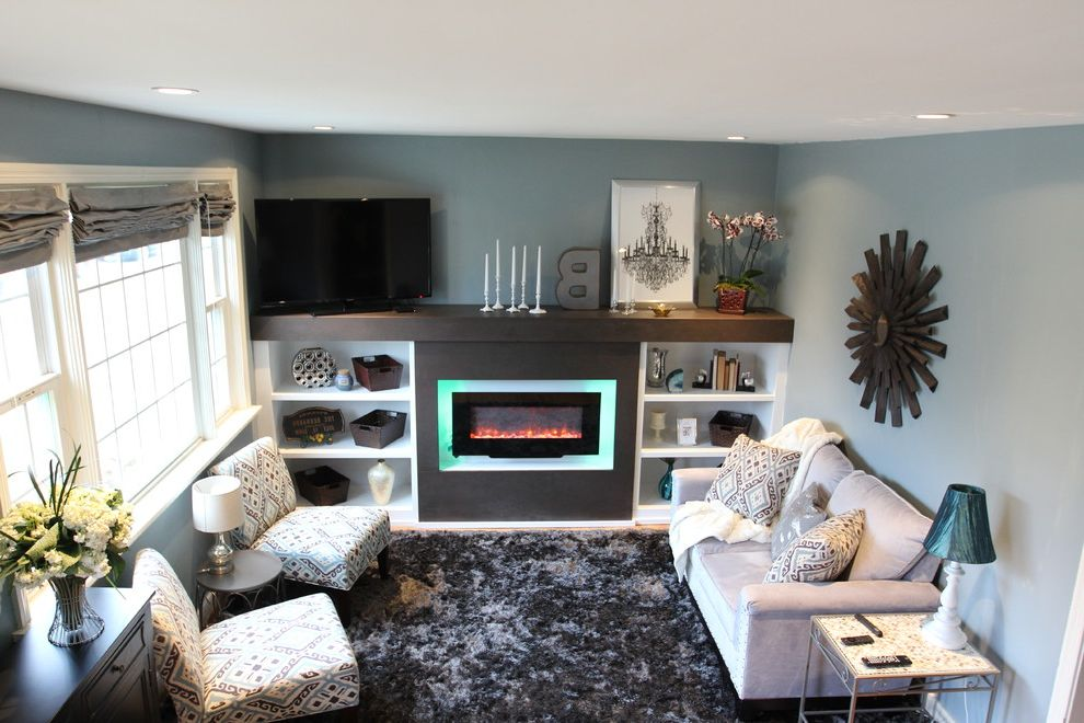 Davis and Green Electrical with Transitional Living Room  and Custom Electrical Residential Redesign Residential Renovation
