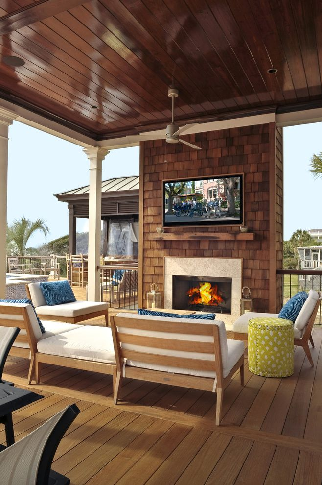 Deck Cost Estimator with Transitional Deck  and Ceiling Fan Deck Floor Fireplace Indoor Outdoor Stool Wood Chairs Wood Paneling