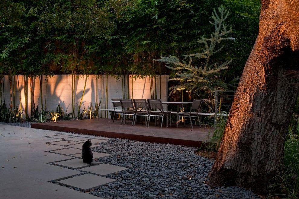 Deck Designs Lowes   Contemporary Deck Also Deck Dining Garden Wall Gravel Hardscape Landscape Outdoor Outdoor Dining Paver Paving Site Furniture Specimen Specimen Tree Uplighting