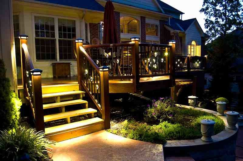 Deck Lighting Unlimited with Traditional Deck Also Cedar Deck Deck Lighting Deck Railing Lighting on Stairs Outdoor Lighting