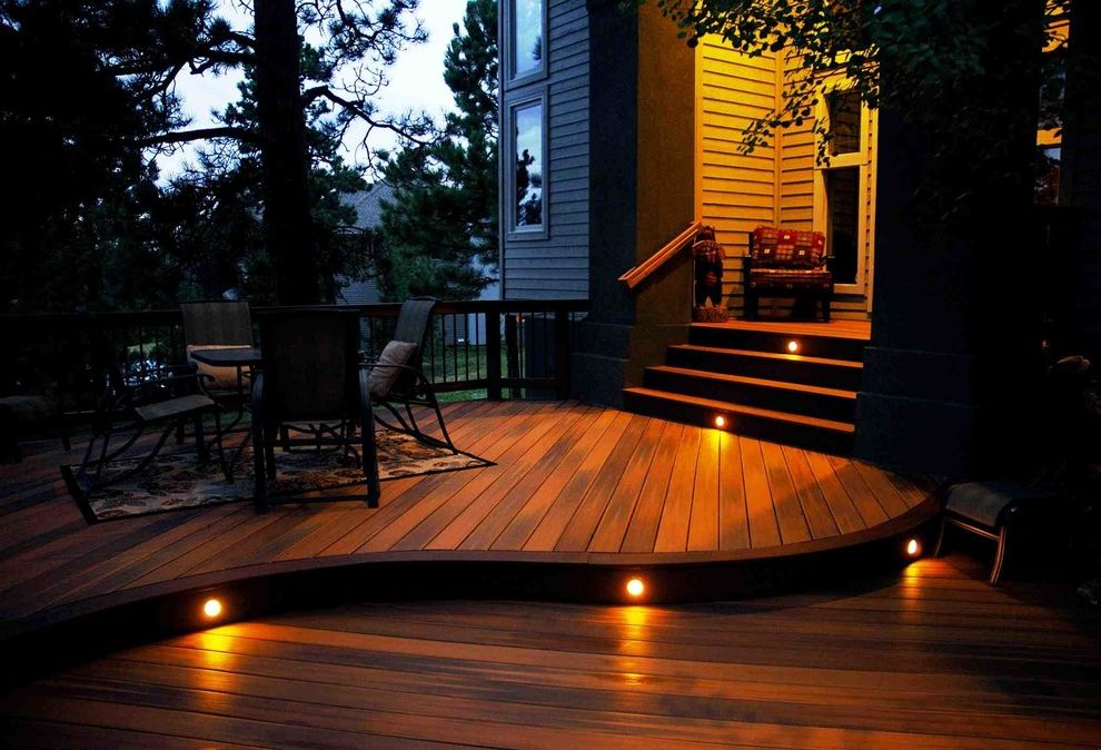 Deck Lighting Unlimited with Traditional Deck  and Cedar Deck Deck Lighting Lighting on Stairs Outdoor Lighting Patio Seating