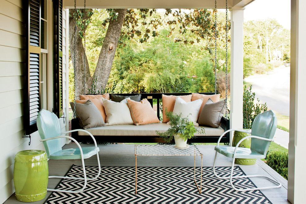 Deck Swings with Canopy   Farmhouse Porch  and Bed Swing Black Shutters Chair Eclectic Farmhouse Renovation Shutters Swing